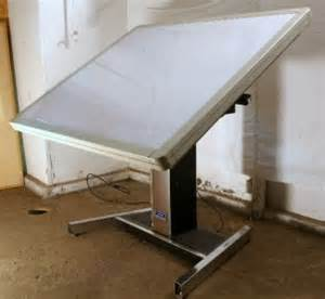 Mayline Drafting Table Mayline Futur Matic Lighted Light Drafting Table Adjustable Architect 61x48 Ebay