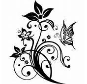 Stickers Fleur Papillon Pas Cher