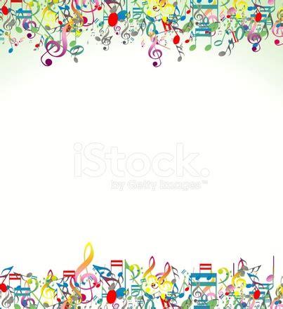 imagenes de motivos musicales sfondo astratto con note musicali colorate stock vector