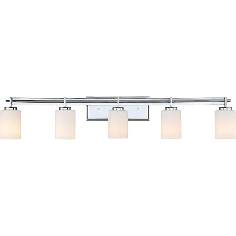 5 Light Bathroom Vanity Fixture by Quoizel Ty8605c Contemporary Polished Chrome 5