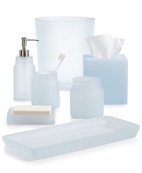 Bathroom Sets At Macy S Closeout Martha Stewart Collection Frosted Powder Blue