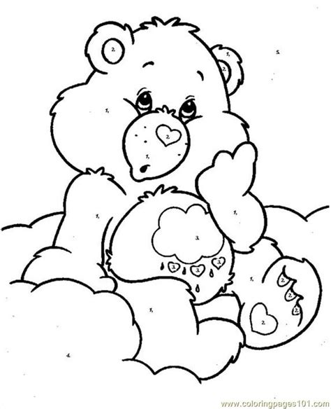 care bear coloring pages pdf coloring pages bearcareby numbers cartoons gt care bears