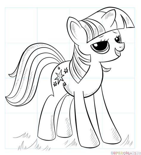 how to draw an alicorn princess from my little pony how to draw princess twilight sparkle alicorn step by