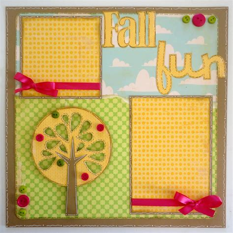 layout of scrapbook lauren s creative quot fall fun quot scrapbook layout