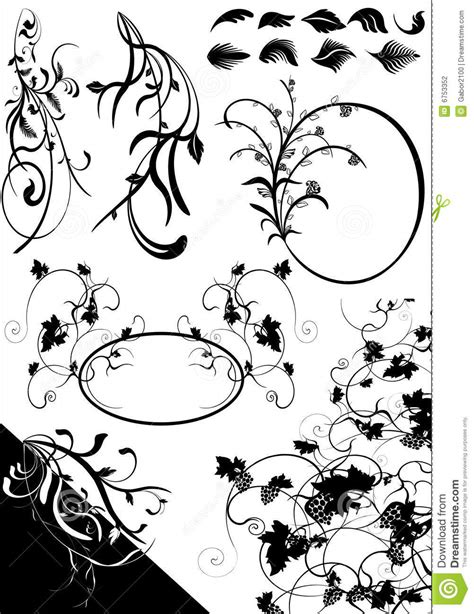 floral pattern cdr floral elements cdr stock photography image 6753352