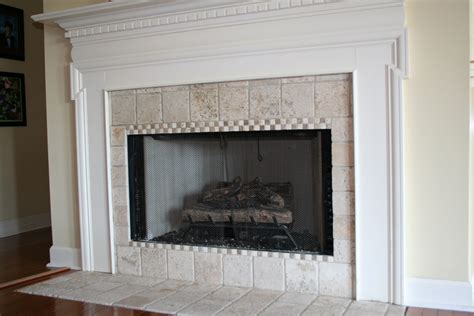 Ceramic Tile Fireplace by Tile On The Fireplace Surround Refresh Restyle