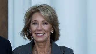 betsy decos does education secretary nominee betsy devos support