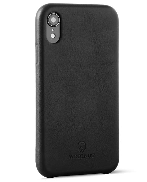 woolnut iphone xr in black leather official webshop