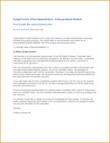 Template Letter Of Recommendation For Student 6 Recommendation Letter Sample For Student Quote Templates