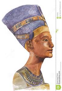 Coloring Book Country Ancient Egyptian Queen Nefertiti Royalty Free Stock Photo