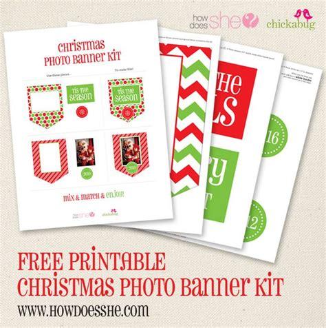 printable banner kit free printable christmas banner kit