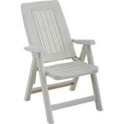 fauteuil de jardin blanc multipositions en r 233 sine