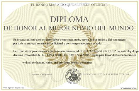 diplomas de honor cristianas diploma de honor al mejor novio del mundo