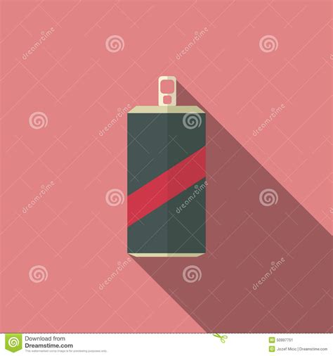 flat design text effect soda flat design icon with long shadow effect stock vector