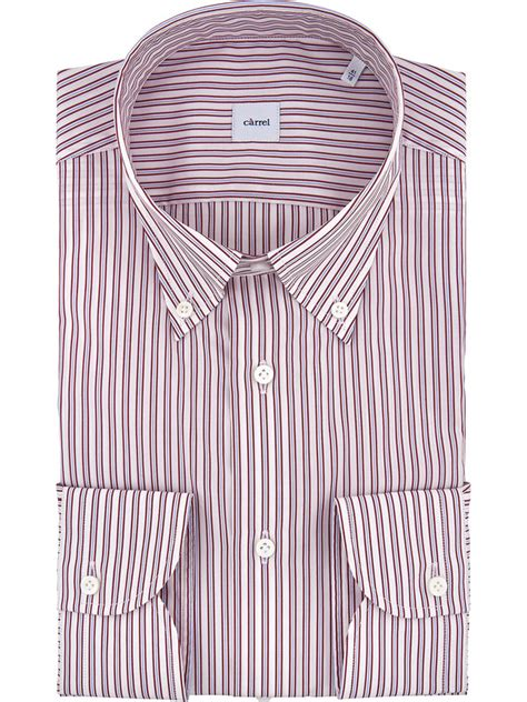 Button Collar Striped Shirt striped c 224 rrel shirt with pocket and button collar