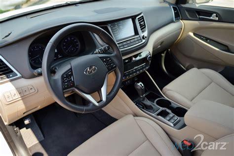 hyundai tucson 2016 interior 2016 hyundai tucson limited awd review web2carz