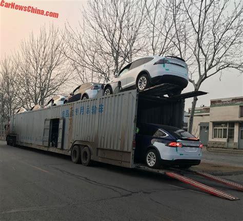 Tesla Transporter Tesla Model Xs Fall Transport Truck That