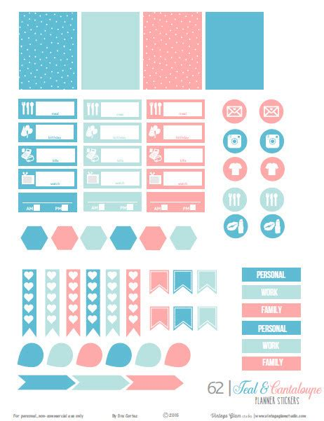 printable planner sticker template free planner sticker printables