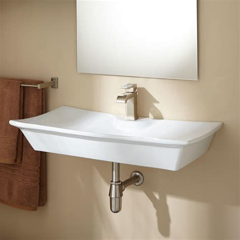 Cabinet Faudet by Marvella Porcelain Wall Mount Bathroom Sink Bathroom