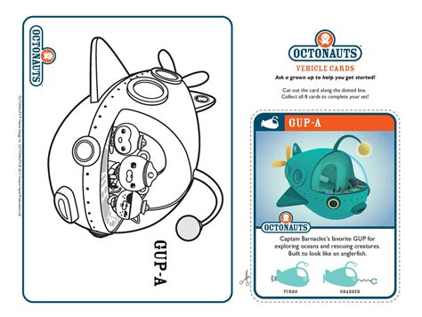 Gup X Coloring Page by Octonauts Octonauts
