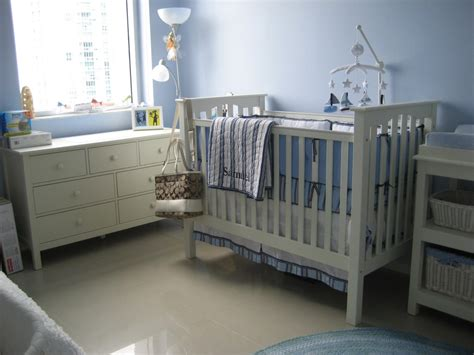 Picture Of Baby Room With Light Blue Walls And White