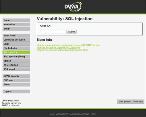Tutorial Php Injection | tutorial sql injection mediante dwva tutoriales de