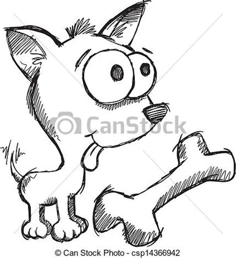 doodle dogs drawing eps vector of doodle sketch puppy vector illustration