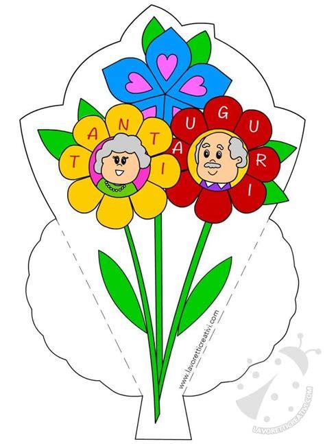 biglietti con fiori biglietti di auguri per la festa dei nonni con fiori