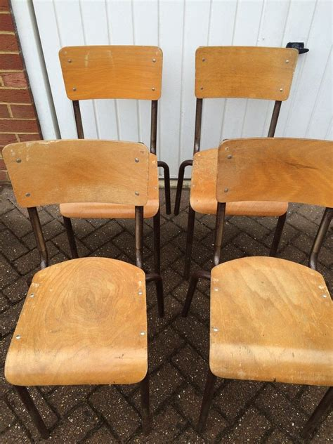 wooden school chairs and tables secondhand chairs and tables retro vintage or antique