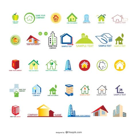 home design vector free download house logo templates vector free download