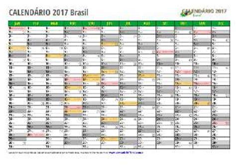 Calendario 2018 Excel Brasil Calend 225 2017 Excel Brazil E Todos Os Estados
