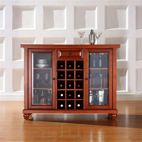 sliding top bar cabinet cambridge sliding top bar cabinet cherry d kf40002dch