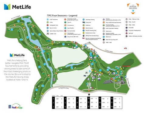 texas golf courses map at t byron nelson course details map