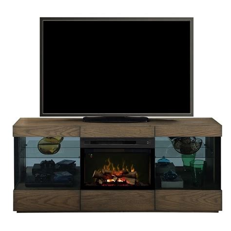 dimplex axel electric fireplace tv stand with logset in