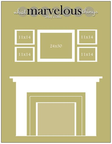 wall display template 10 pack