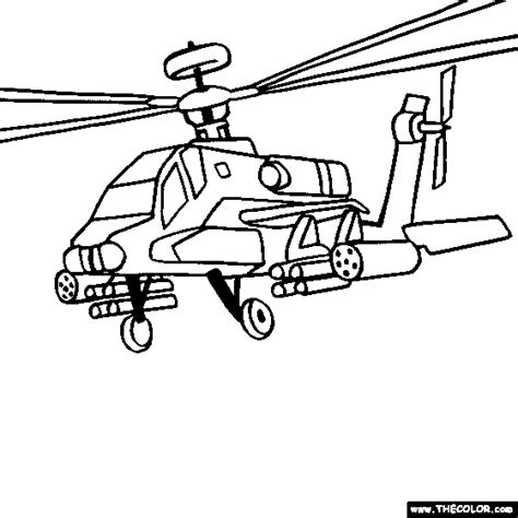coloring page of helicopter boeing ah 64 apache military helicopter coloring
