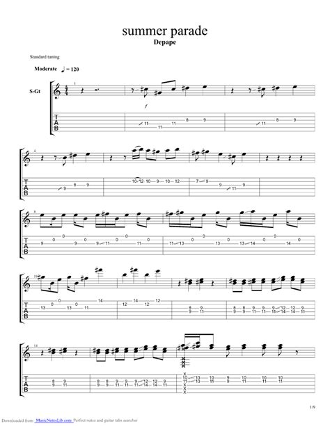 Wedding Bell Depapepe Chords by Summer Parade Guitar Pro Tab By Depapepe Musicnoteslib