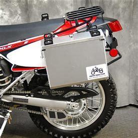 aluminum pannier kit imnaha  klxs adventure proven motorcycle gear  aluminum panniers