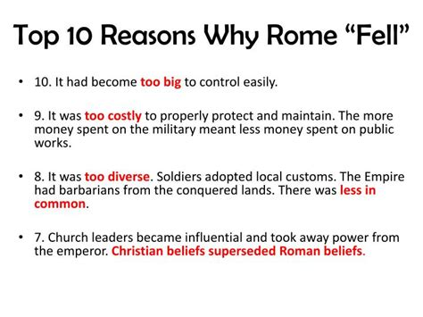 10 Top Reasons Why by Ppt Rome And The Romans And Early Christianity