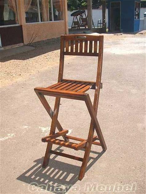 Kursi Malas Lipat Kayu kursi bar lipat kayu jati kursi bar jati cahaya mebel