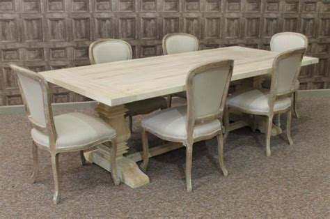 Limed Oak Dining Tables Limed Oak Dining Table With A Tuscan Pedestal Base Large Oak Table