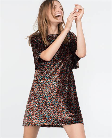Zara Sweater Velvet zara velvet dress in black lyst