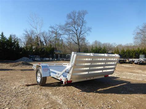 aluma 77 quot x 10 aluminum landscape trailer w bi fold