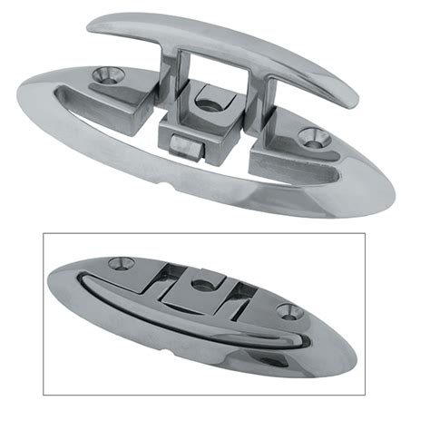 folding boat cleats taco marine stainless steel folding cleats west marine