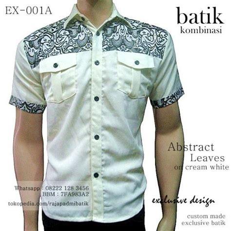 Kemeja Seragam Polos Kode Ymh Biru batik kombinasi kain polos rajapadmi batik kemeja batik pria batik modern 2016 seragam batik