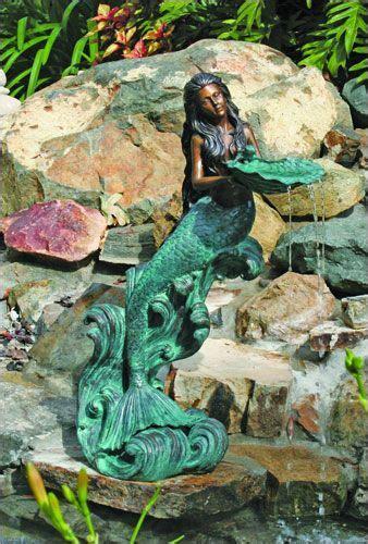 mystical mermaid fountain bronze finish cast  brass