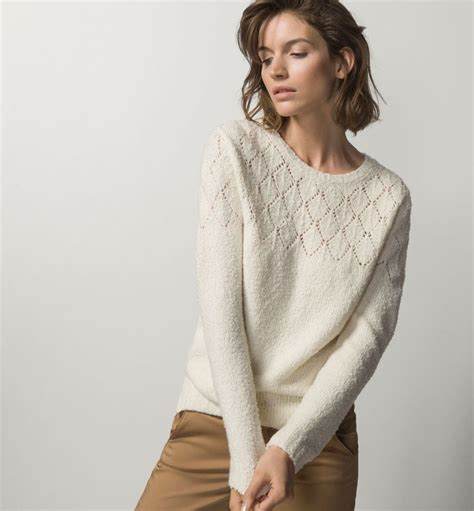 Sweater Massimo Dutti Sweater With Openwork Detail Sweaters Sweaters
