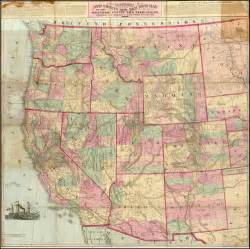 western map watsons new county and rail road map of the western states