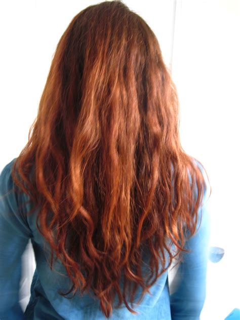 henna color danielle s hair after coloring with light mountain