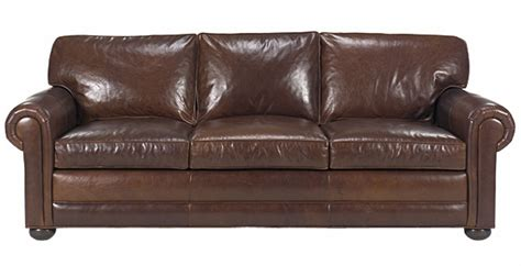leather sofas sheffield leather deep seated studio sofa with rolled panel arms